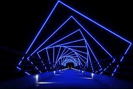 led design iowa footbridge features inspired led design leds