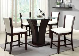 glass counter height table sets furniture ville bronx ny manhattan lll round glass top counter