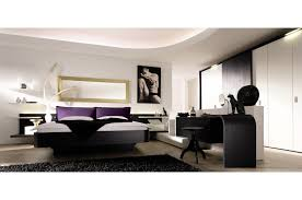 table bedroom modern modern study room presenting black glossy desk and black stool added