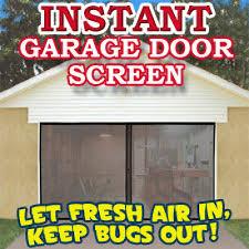 10x10 garage door instant garage door screen single the official asseenontv com