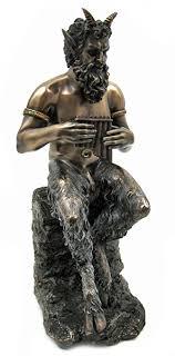 greek gods statues amazon com bronzed finish pan faun statue greek mythology by