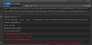 error failed to run project ios creator v1 5 1 mac cocos