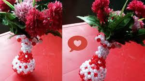 Beaded Vases Flower Vases Ideas Upcycle Craft Diy Flower Sock Vase Great Craft