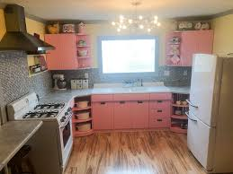 how to redo metal kitchen cabinets 1953 sears steel kitchen cabinets painted pink take
