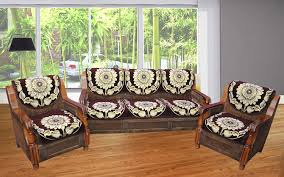 Online Shopping Of Sofa Set Buy Hargunz Beautiful Brown 5 Seater Sofa Cover Set Online At Low