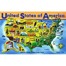us map puzzle wood learning resources magnetic u s map puzzle 44 pieces
