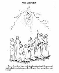 coloring page of jesus ascension jesus goes to heaven coloring page bible printables pinterest