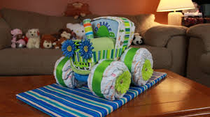 jeep cake tutorial tractor diaper cake how to make youtube