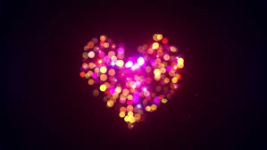 heart sign flashing light computer generated seamless loop