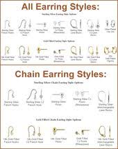 earring styles earring style chart images reference guide for ebay