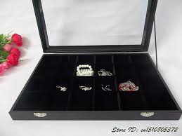 necklace display case images Superior jewelry display tray of 24 cells removable jewellry jpg