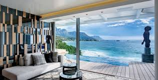 view interior of homes clifton view mansion by antoni associates overlooking cape town