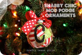 crafty texas girls crafty how to shabby chic mod podge ornaments