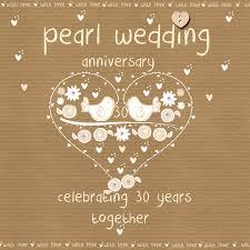 30 wedding anniversary pearl wedding anniversary card karenza paperie