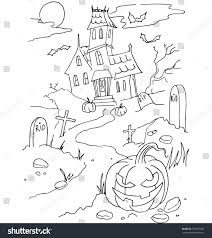 simple halloween background simple coloring on halloween theme made stock vector 318081500