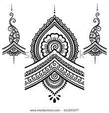 henna tattoo flower template mehndi stock vector tatoo