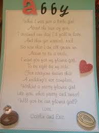 asking of honor poem wedding party asking bridesmaids of honor and flower