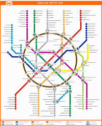 Munich Subway Map by Moscow Subway Map Travel Map Vacations Travelsfinders Com