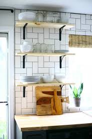 how to put up kitchen backsplash how to install basic open kitchen shelves over tile a tile