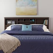 everett espresso king bookcase headboard free shipping today