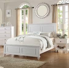 poundex california king bed white finish f9270ck
