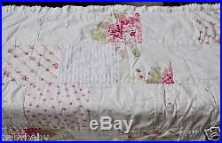 simply shabby chic chenille patchwork quilt new 2 king shams pink