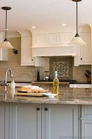 Two Tone Cabinets In Kitchen Two Tone Kitchen Pantry Features White Upper Cabinets And Gray