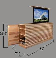 auto raising tv cabinet the amazeballs picture lift hide a flat screen tv behind a piece of