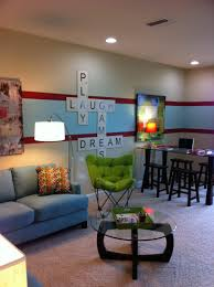 living room basement game room design ideas art painting picture