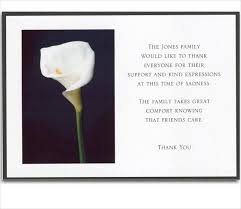 sympathy thank you cards 6 bereavement thank you cards free sle exle format