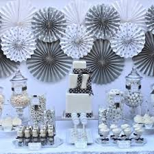 silver party favors silver and white 25th birthday 25th birthday ideas events
