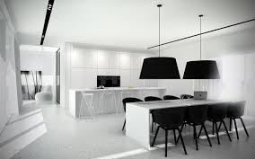 black and white dining room 40 beautiful black u0026 white kitchen designs