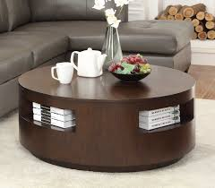 round coffee table with casters homelegance aquinnah round cocktail table with casters dark cherry