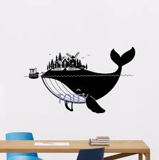Nautical Nursery Decor Whale Wall Decal Sea Boat Fish Vinyl Sticker Nautical