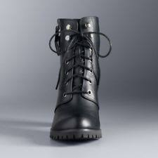 womens black combat boots size 9 simply vera vera wang boots for ebay