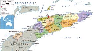 Nd Road Map Maps Of East Timor Detailed Map Of East Timor Timor Leste In