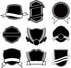 blank label template ribbon with labels blank template vector 05 vector label vector