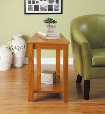 Oak End Tables Homelegance 4728ak Chair Side Table Oak Finish