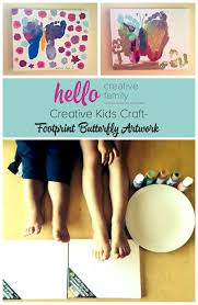 creative kids craft footprint butterfly artwork hello creative