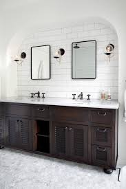 Revit Bathroom Vanity by Double Dark Wood Bathroom Vanities With Travertine Floors Wood