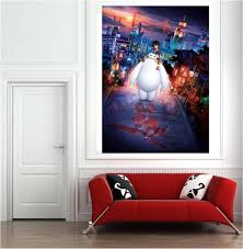 posters murals picture more detailed picture about big hero 6 big hero 6 wall art printed vinyl sticker poster for childrens bedroom 60x85cm 24x33