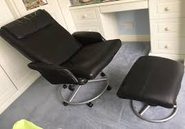Ikea Recliner Chair Ikea Malung Leather Recliner Chair And Footstool Black