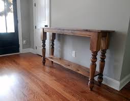 nicole turned leg farmhouse console table