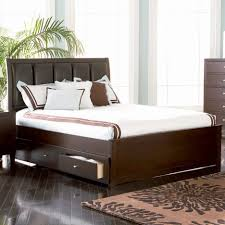 bed frames queen platform bed with storage and headboard ikea