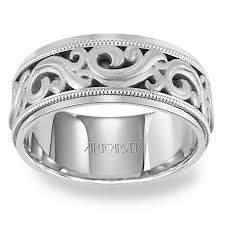 mens palladium wedding band 11 wv7321pd ardent mens carved palladium wedding band from