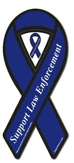 blue support ribbon support enforcement blue ribbon magnet