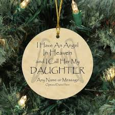 angel daughter christmas memorial ornaments sympathy gifts for men