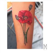 you will adore these lovely poppy tattoos tattoodo
