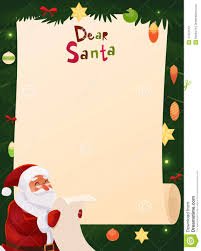 christmas wish list christmas wish list design blank stock vector image 47337513