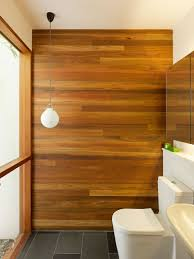 Wooden Paneling by Interior Cheerful Modern Wooden Bathroom Decoration Using